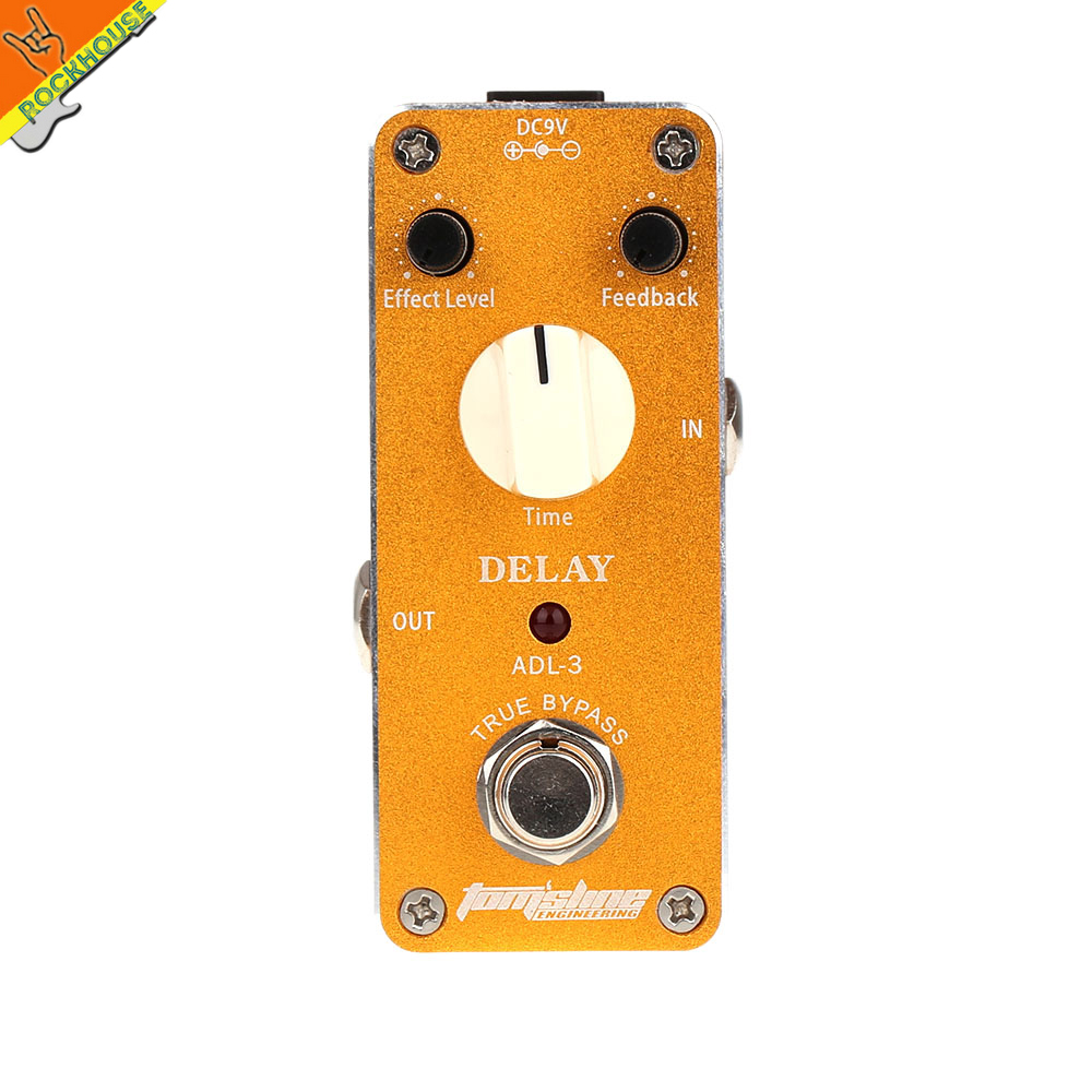 AROMA ADL-3 Mini Delay Guitar Pedal Analog Delay Guitar Effects Pedal Echo Stompbox 400ms delay time True Bypass Free Shipping aroma adl 1 aluminum alloy housing true bypass delay electric guitar effect pedal for guitarists hot guitar accessories