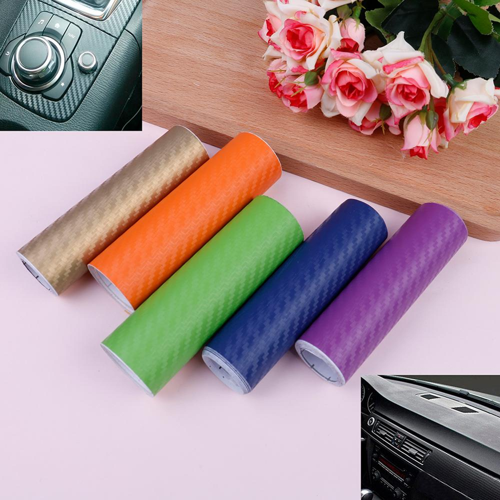100X10CM Clearing Sale 3D Carbon Fiber Vinyl Film Sheet Decals Car Wrap Wrapping Stickers Auto Decorating Accessories