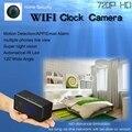 Новые Настольные Часы Камеры 720 P HD 5 М ИК Ночного Видения Micro Wifi камеры IP P2P Mini DV Видеокамеры Видеокамера С Петлей запись