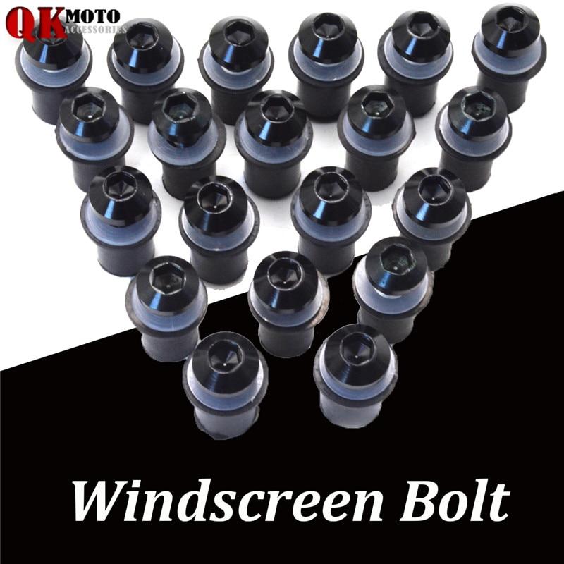 20 pcs Universal motorcycle Windshield Spike Bolts Screw Nuts For BMW S1000RR S1000R HP4 R1200GS F650GS F800GS F800R F700GS