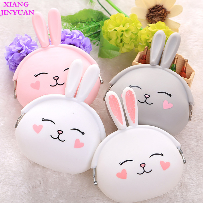 цена на 2018 New Cute Silica Gel Rabbit Zero Wallet Girls Fashion Mini Small Bag Creative Hot-selling Child Coin Pouch Key Kids Purse