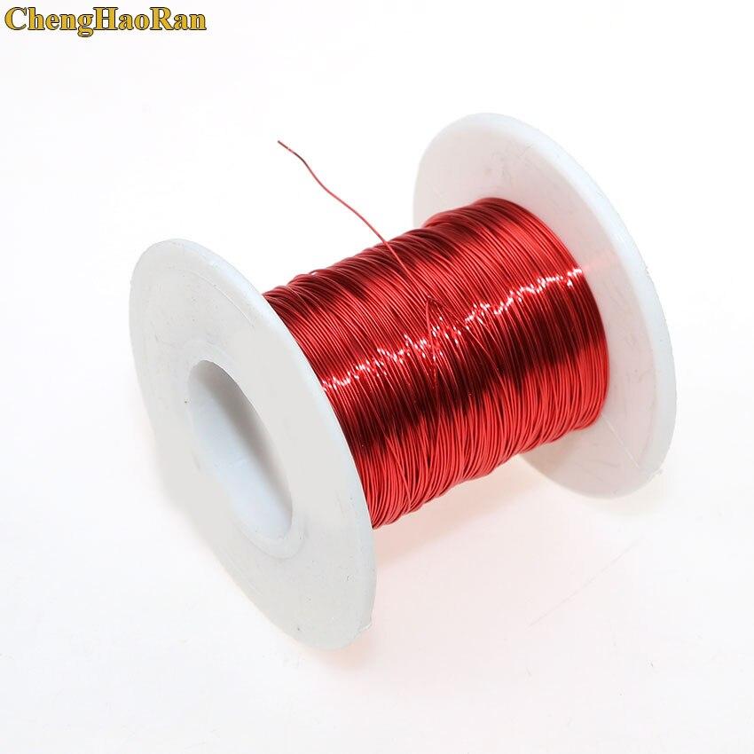 ChengHaoRan 0,3 мм * 50 м/100 м/катушка QA-1-155 эмалированная полиуретановая медная проволока эмалированная красная 0,3 мм 50 м 100 м