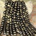 Comercio al por mayor 15 ''Strand 8mm 10mm 12mm Ronda Cuentas de Obsidiana Natural de Oro Para Hacer Pulseras Collares DIY accesorios