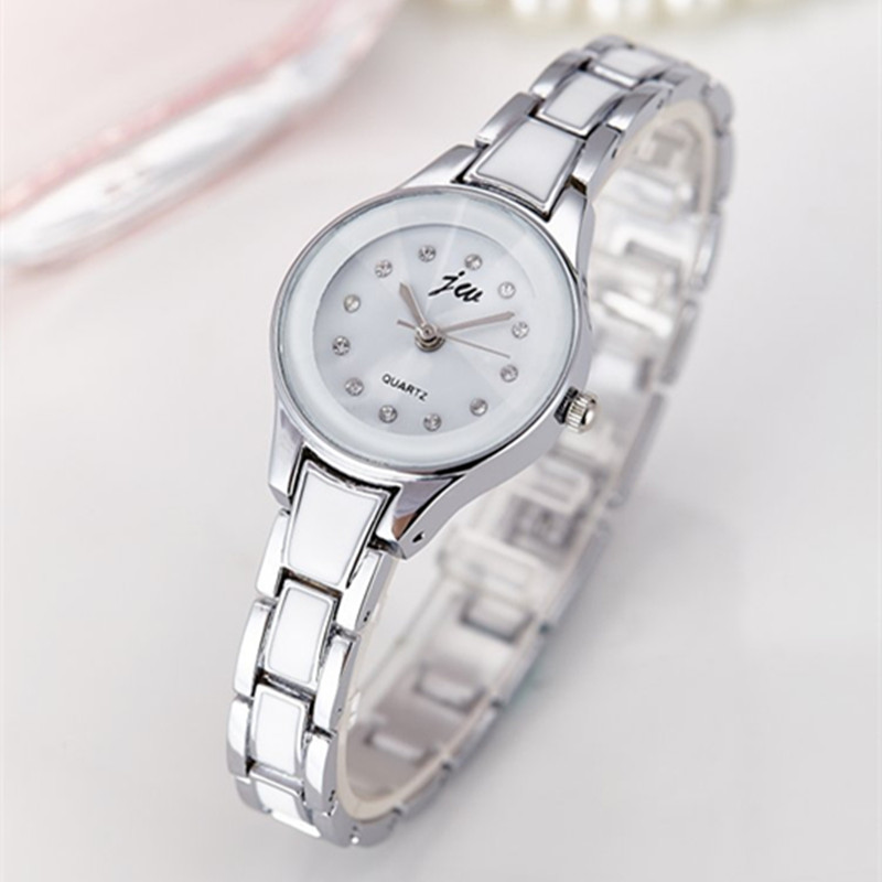 JW Luxury Brand Silver Watches Women Gold Bracelet Quartz Watch Ladies Stainless Steel Fashion Casual Dress Wristwatches Clock duoya fashion luxury women gold watches casual bracelet wristwatch fabric rhinestone strap quartz ladies wrist watch clock
