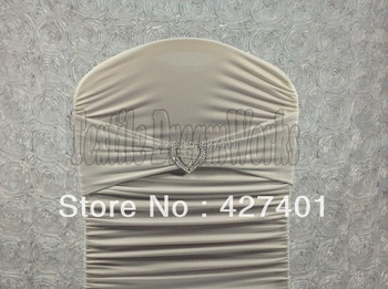 Hot Sale White Spandex Bands / Lycra Band /Chair Covers Sash With Heart Shape Buckle For Wedding & Banquet