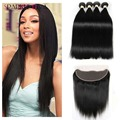 Brazilian Straight Hair With Lace Frontal Closure Ms Lula Hair With Frontal And Bundles Mink Brazilian Hair With Frontal
