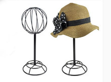 Hot sale Hat storage rack metal peak cap display stand straw hat sunhat shelf holder wig rack for Boutique display props hot sell metal tie display rack necktie display stand