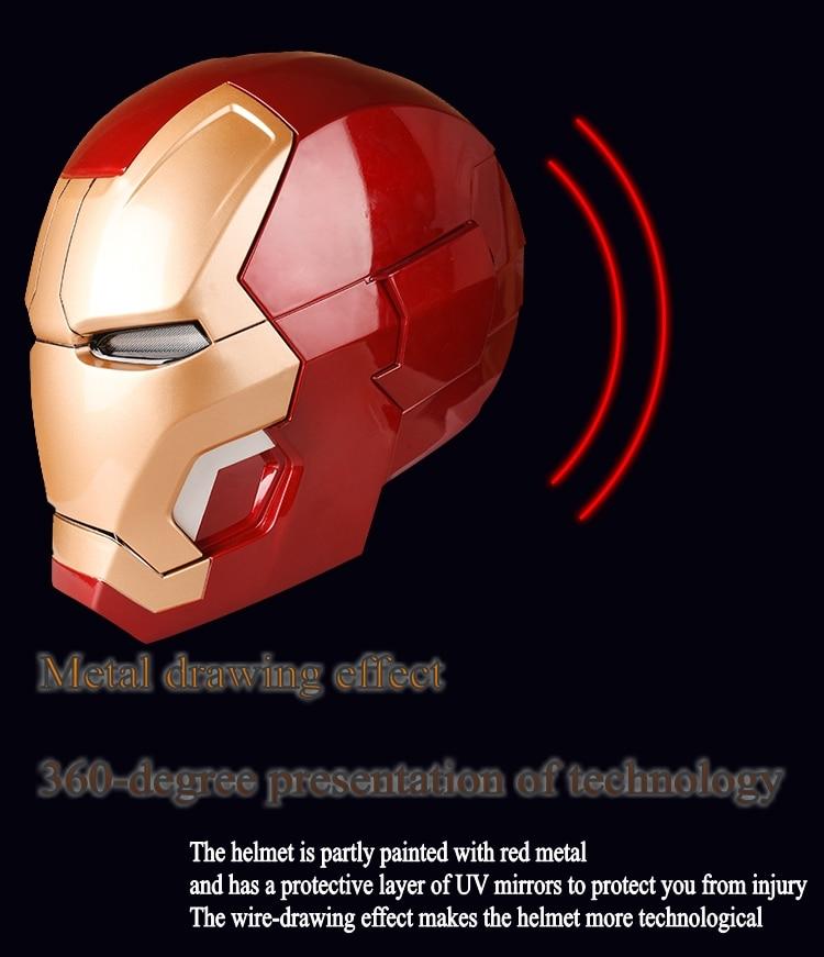 Avengers 4 1:1 Halloween Party zeer hoge kwaliteit Iron man masker mk42 helm wearable model touch elektrische open masker marvel - 6