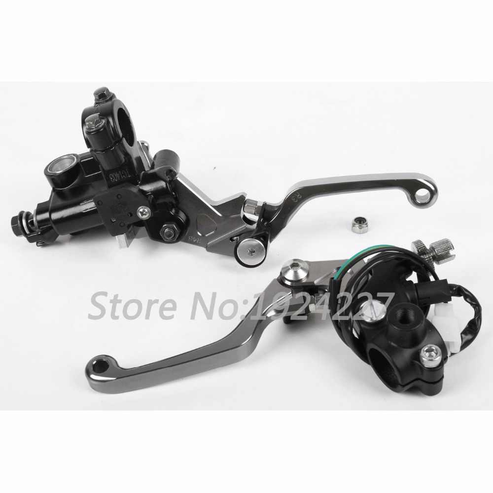 8 Colors For Suzuki RM125 RM250 1996-2013 RMX250S 1993-2015 CNC Dirt Bike Brake Master Cylinder Clutch Levers RM 125 250 2014