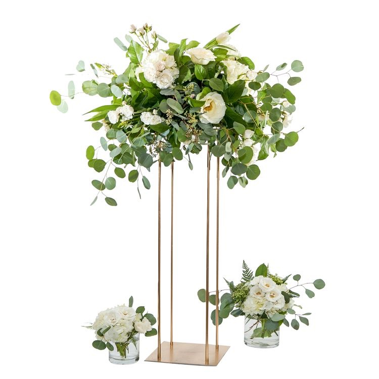 New Style Wedding Metal Gold Flower Vase Column Stand For