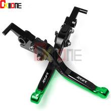 Motorcycle CNC Adjustable Extendable Folding Brake Clutch Levers For Kawasaki ZX6R ZX636R ZX-6R ZX 6R 2000 2001 2002 2003 2004 стоимость