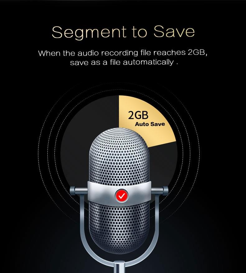Kreativ 288 Stunden Lange Zeit Rekord Professionelle Stimme Aktiviert Recorder Diktiergerät Digital Telefon Aufnahme Gerät Mit Mp3 Player Unterhaltungselektronik