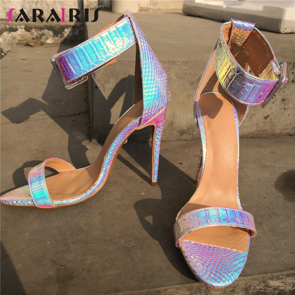 SARAIRIS Brand Design Big Size 35-47 Sexy More Colors Party Women Shoes 2019 Summer Wedding High Heels Shoes Woman SandalsSARAIRIS Brand Design Big Size 35-47 Sexy More Colors Party Women Shoes 2019 Summer Wedding High Heels Shoes Woman Sandals