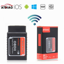 10PCS OBD OBD2 Car Code Reader PIC18F25K80 Hardware V1.5 ATDIAG ELM327 WIFI Stable Function Works Diesel Cars For Android/iOS