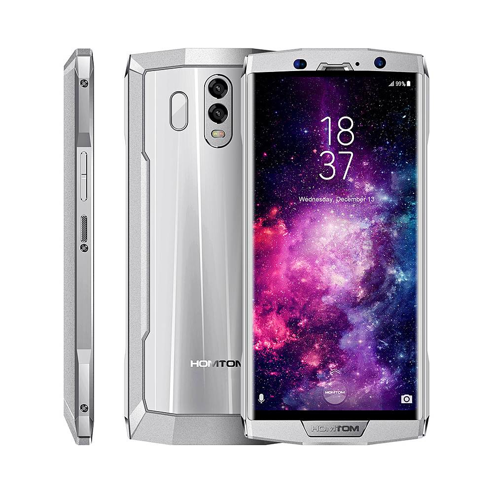 HOMTOM HT70 4G Smartphone Da 6.0 Pollici Android 7.0 MTK6750T Octa Core 1.5 GHz 4 GB di RAM 64 GB ROM posteriore Dual Camera 10000 mAh Batteria