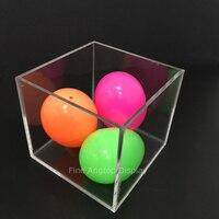 9x9x8cm Transparent Acrylic 5 sided Cube Box Jewelry Beads Display Storage Box Plexiglass Gift Box