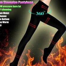 Топ для женщин, девушек, сжигание калорий, формирование тела, 200 м, утягивающая для похудения, Stovepipe колготки, анти-офф, шелковые пикантные обтягивающие чулки