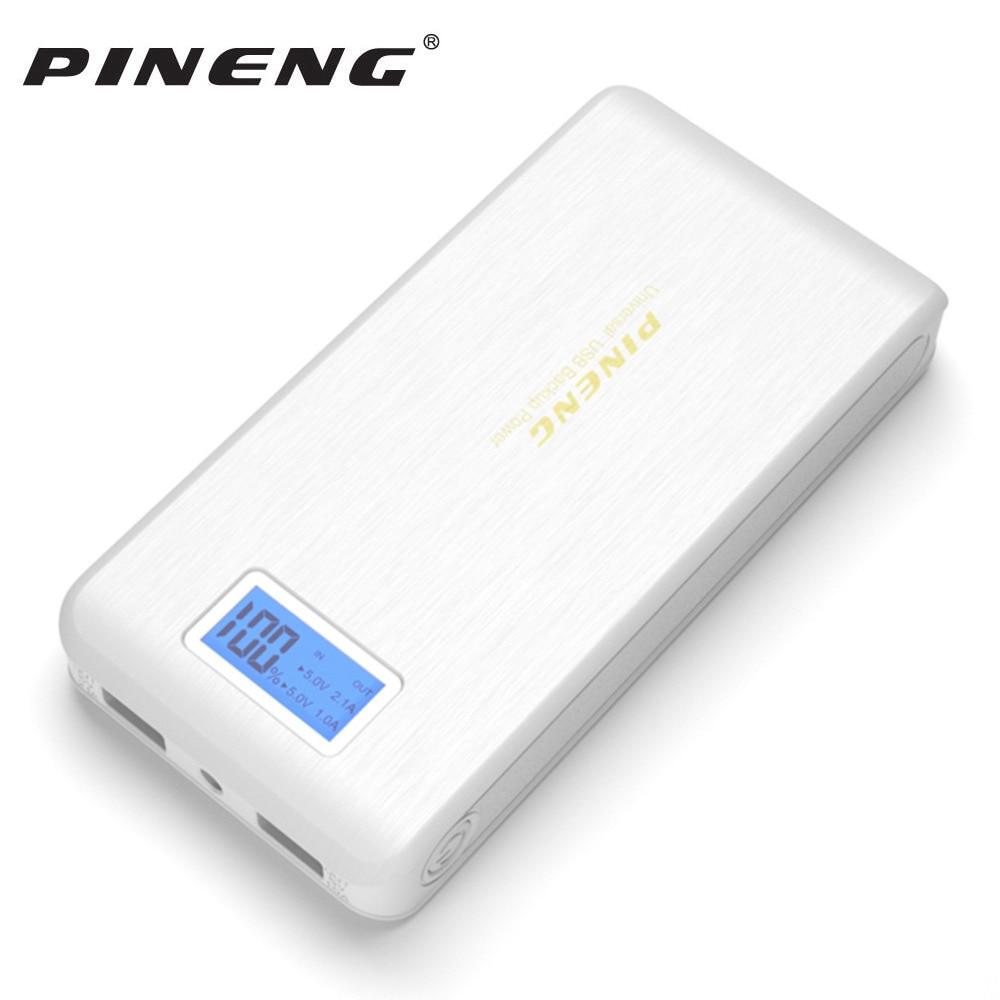 Original Pineng PN929 Power Bank 15000mAh Dual USB LCD Flashlight Powerbank Bateria Externa Battery Chargeur Portable Charger
