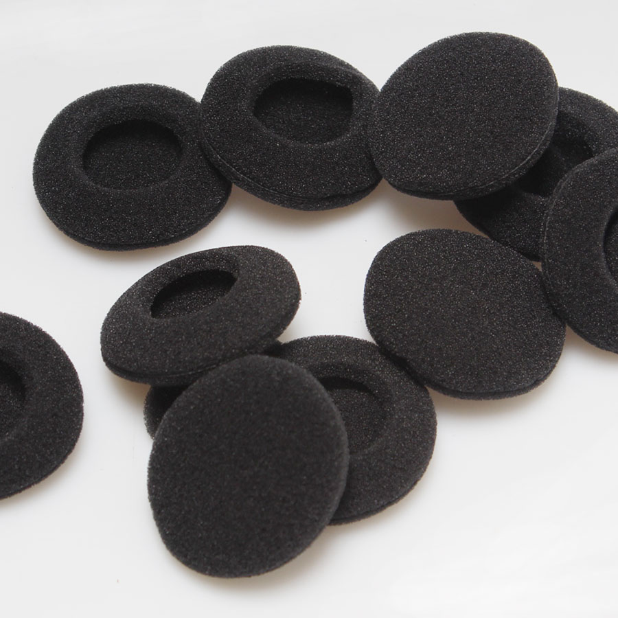 10Pcs/Lot Black Diameter 4.5cm Foam Earbud Earphone Earbuds Tips Headphone Ear For Earphones Accessories MP3 MP4 Mobile Phone 1pcs black 3 5mm 1 in 2 couples audio line earbud headset headphone earphone splitter for pad phone android mobile mp3 mp4