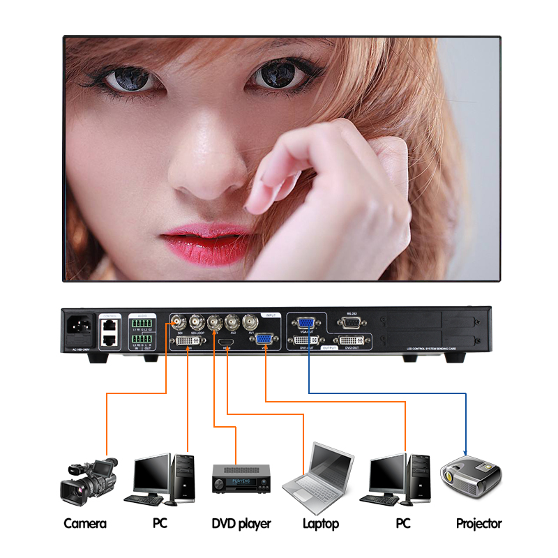 16x16 audio video matrix switcher lvp613s SDI advertising led monitor video wall processor support linsn novastar for absen led
