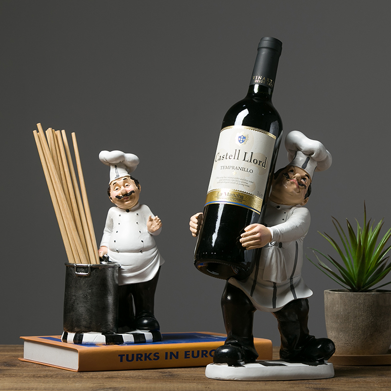 European Nordic Style Resin Chef Figurines Furniture Household
