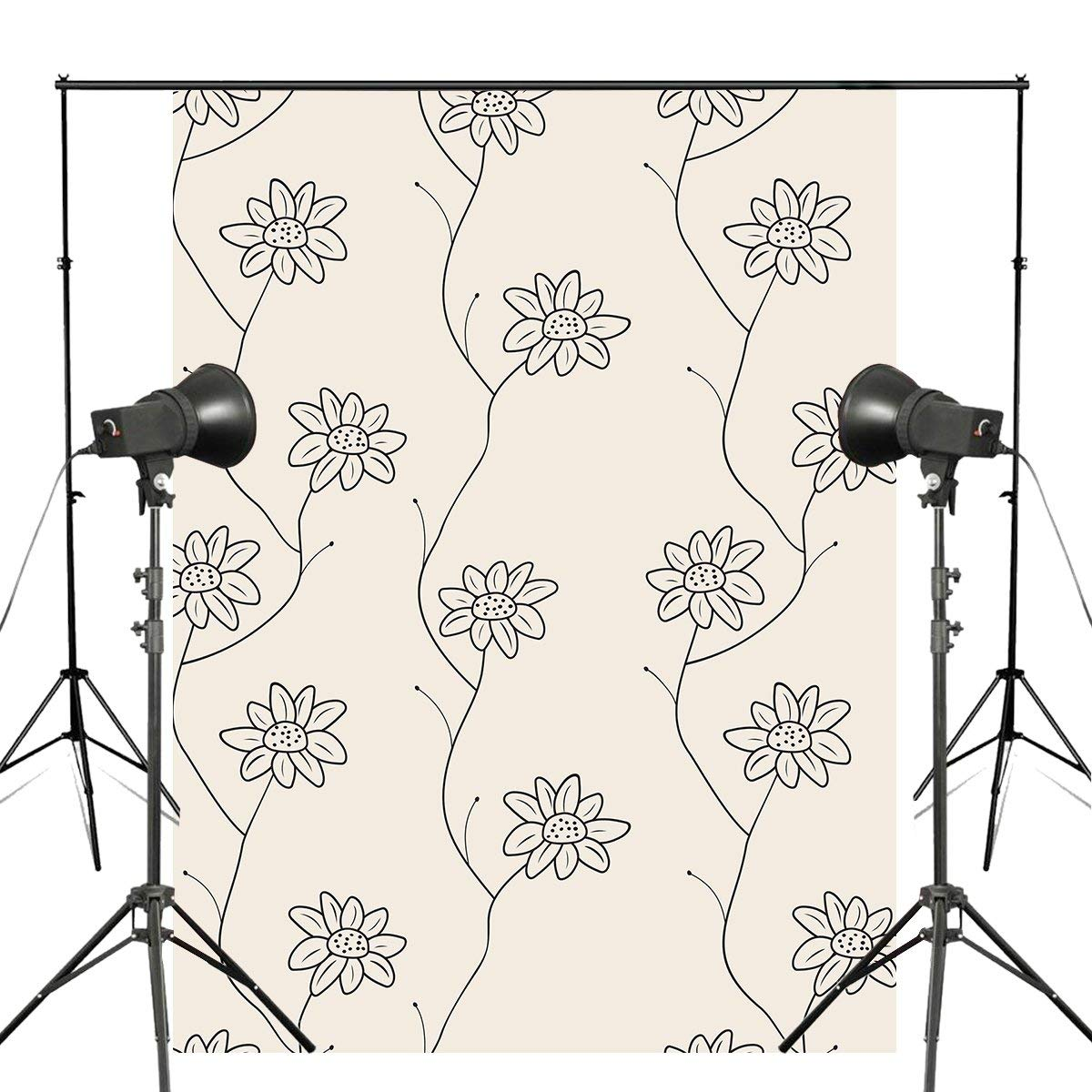 5x7ft Delicate Floral Photography Backdrop Seamless Pattern Background Plain Style Photo Studio Wall
