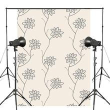 5x7ft Delicate Floral Photography Backdrop Seamless Pattern Background Plain Style Photo Studio Backdrop Wall vinyl photography backdrop vintage photo studio photographic background flower wall floral newborns kids background 5x7ft f1913