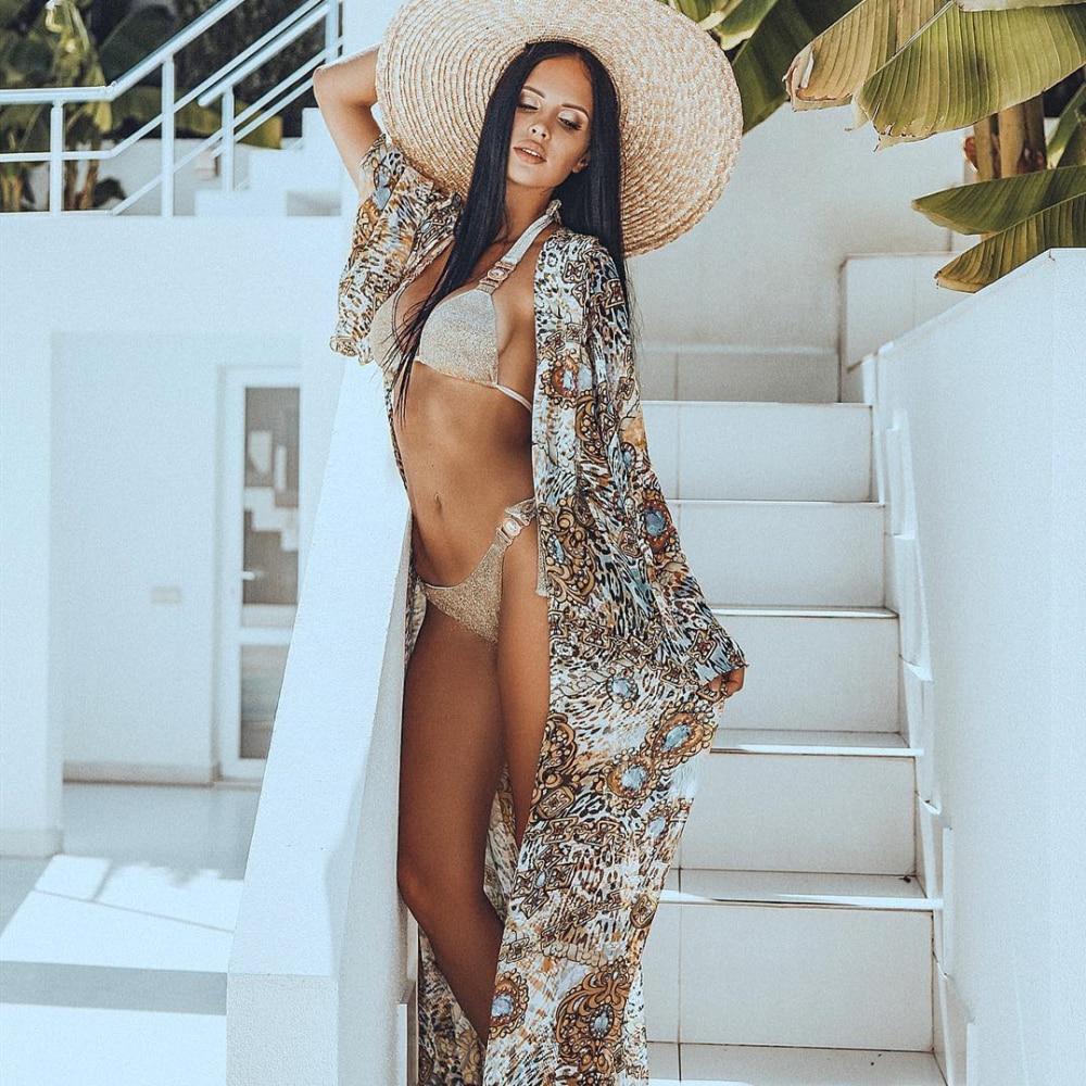 2019 strass maillot de bain femmes Bikinis cristal diamant Bikini ensemble chaîne en métal maillots de bain femme luxe aristocratique maillot de bain
