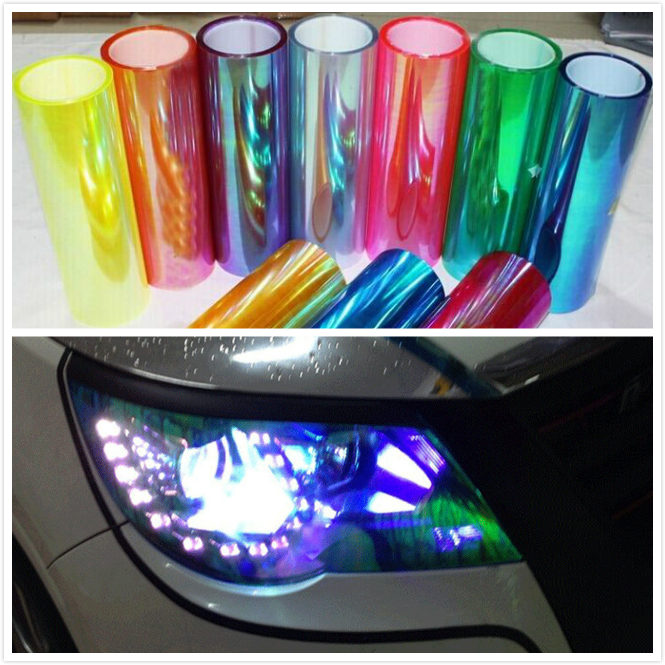 1roll 10M 30cm Shiny Chameleon Auto Car Styling headlights Taillights film lights Change Color Car film Stickers Car Accessories
