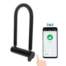 U-замок Bluetooth отпечаток пальца Умный Замок 5V100mA прочный u-образный Противоугонный замок стеклянная дверь разблокировка, разблокировка блокировки