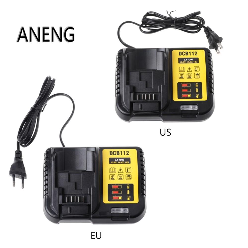ANENG DCB112 Li-ion Battery Charger Replacement For Dewalt 10.8V 14.4V 18V US/EU Plug набор bosch ножовка gsa 18v 32 0 601 6a8 102 адаптер gaa 18v 24
