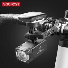 GACIRON 500/800 Lumen Bicicleta Luz 200 M Luz Da Frente Da Bicicleta USB Recarregável Lanterna À Prova D Água Farol Ciclismo Acessórios