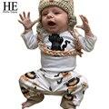 HE Hello Enjoy baby clothes winter baby girl boy clothes newborn clothes set Little Monster T-shirt + pants infant 2pcs suit