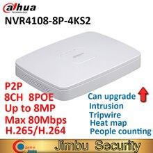 Видеорегистратор Dahua NVR4108 8P 4KS2 mini, 8CH Smart 1U 8PoE port 4K и H.265 до 8 Мп, максимум 80 Мбит/с
