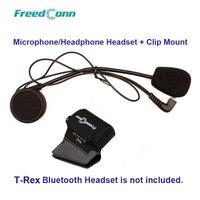 Harte Linie Mikrofon & Lautsprecher + Universal Clamp Halterung für T-Rex Motorrad Bluetooth Helm Sprech Headset