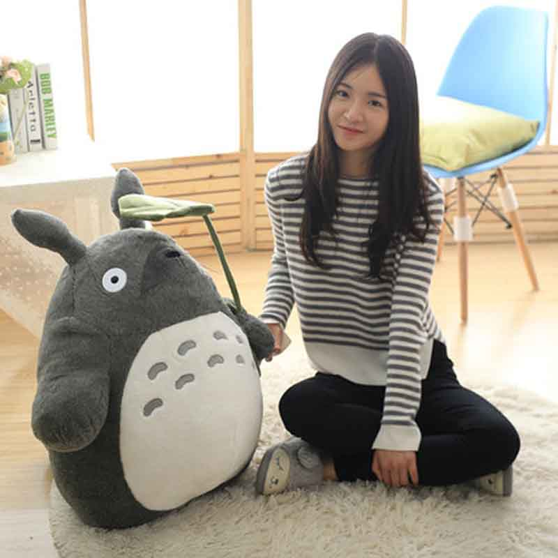 Image 4 - 27 55cm Cute wedding press doll children birthday girl Kids Toys Totoro doll Large size pillow Totoro plush toy doll-in Stuffed & Plush Animals from Toys & Hobbies