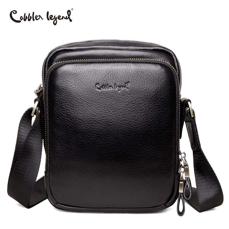 Cobbler Legend Genuine Leather Bag Men Bags Shoulder Crossbody Bags Male Messenger Small Flap Handbags Casual Men Leather Bag mva genuine leather men s messenger bag men bag leather male flap small zipper casual shoulder crossbody bags for men bolsas