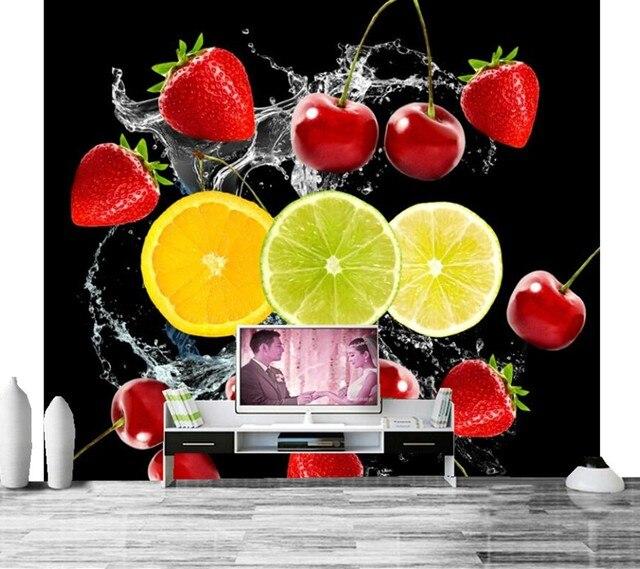 aliexpress : erdbeere kirsche zitronen schwarz hintergrund, Wohnzimmer