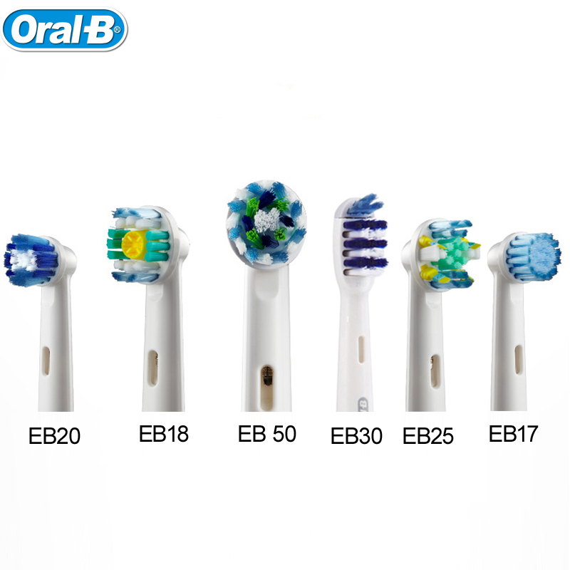 Oral B Electric Toothbrush Head Deep Clean Replaceable Teeth brush Head for D12013/D16523 4 heads EB30/17/18/20/25/50 1pack eb 25a model replacement electric toothbrush head eb25 cleaning tool fit for braun oral b tooth brush heads