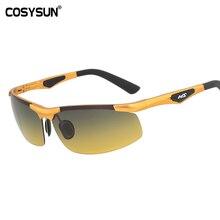 2019 tag Nacht Vision Goggles Driving Polarisierte Sonnenbrille Männer Auto Fahren Brille Anti glare Aluminium Gläser nacht CS0009