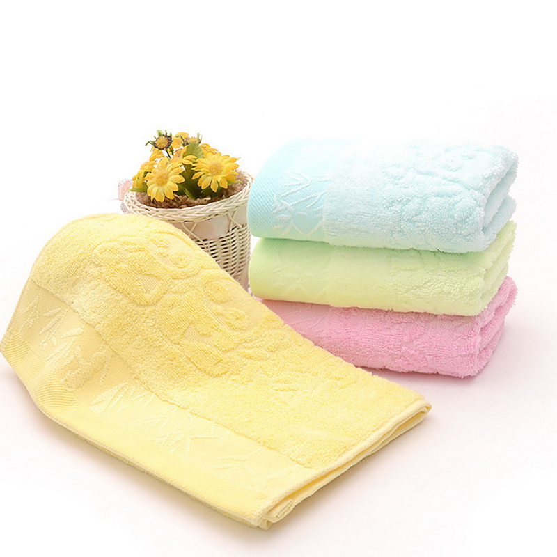 Urijk 25*50cm Face Towel 100% Cotton Soft Hair Hand Bath Towels For Adults Bamboo Microfiber kid Beach Bath Towel For Swimming