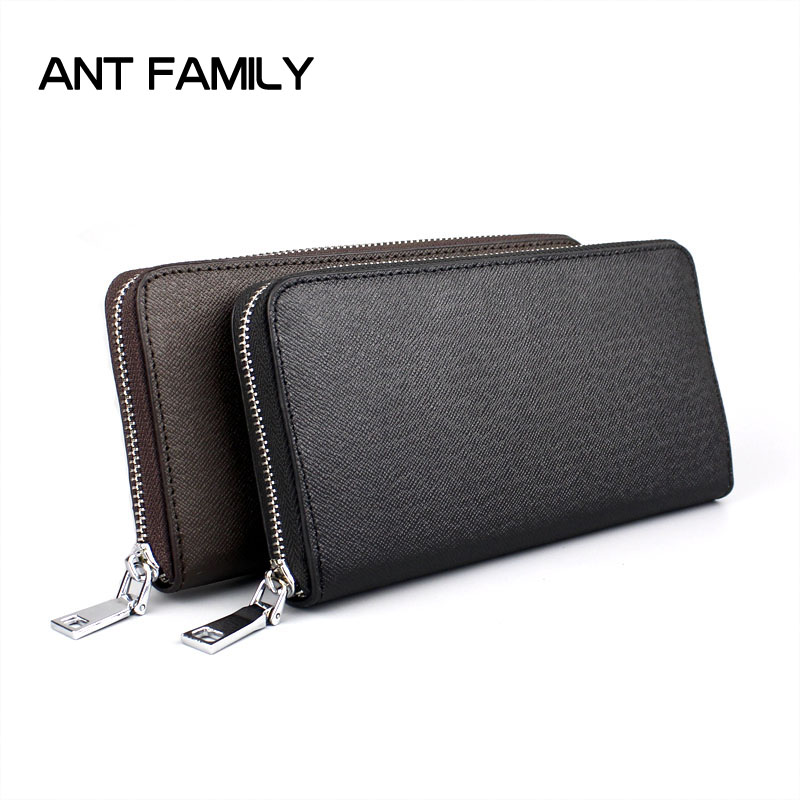 High Quality Genuine Leather Men Wallet Long Zipper Business Wallets Male Clutch Large Capacity Coin Purse Card Holder Wallets 2014 fashion genuine leather men wallets business style long wallet high quality credit coin purse solid soft letter male pouch