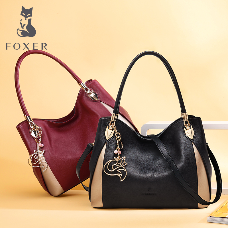 FOXER Brand Women's Leather Handbag Fashion Female Totes Shoulder Bag High Quality Handbags foxer brand women s leather handbag fashion female totes shoulder bag high quality handbags