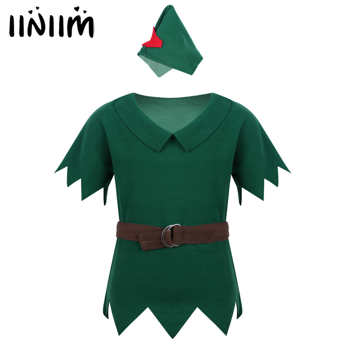 Kids Boys Clothing Robin Hood Outfit Costumes T-shirt with Hat Belt Halloween Cosplay Party Boy for Fancy Carnival Dress Up toy story costumes adult