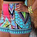 Female Sexy Women Vintage Colorful High Waist Floral Print Shorts  Bohemia Style