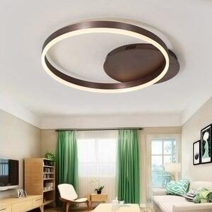 Image 5 - Sıcak satış Yaratıcı yüzük led için avize tavan oturma odası ışıkları yatak odası led lamba Kahverengi modern avize aydınlatma armatürleri