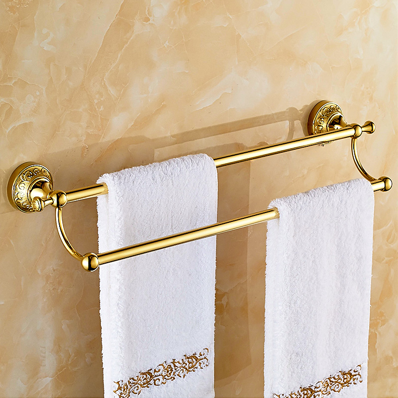 Towel Rack Double Hanging Pendant European Antique Gold ...