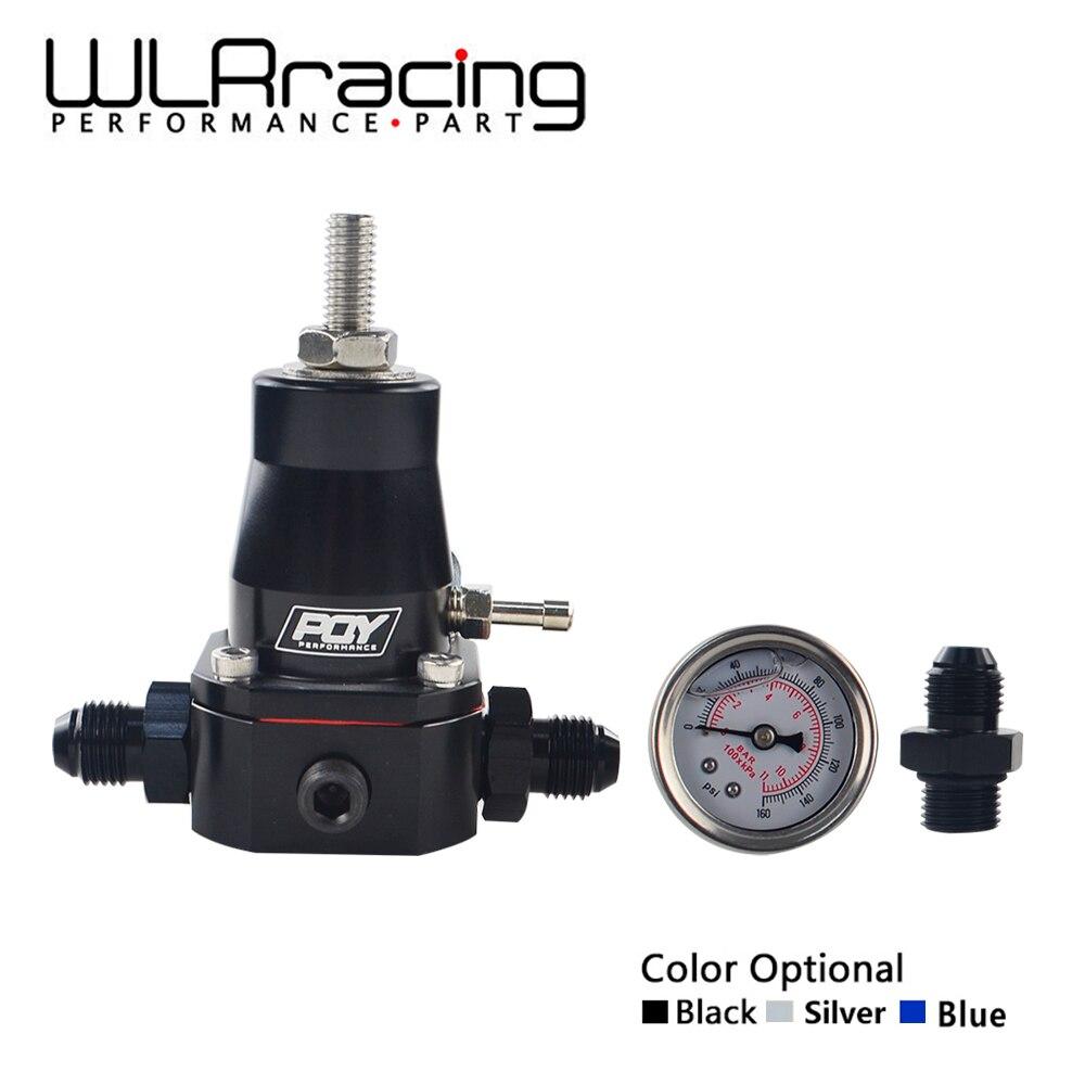 WLR RACING - UNIVERSAL FUEL PRESSURE REGULATOR + GAUGE + AN6 FITTING 30-70 PSI WLR7845