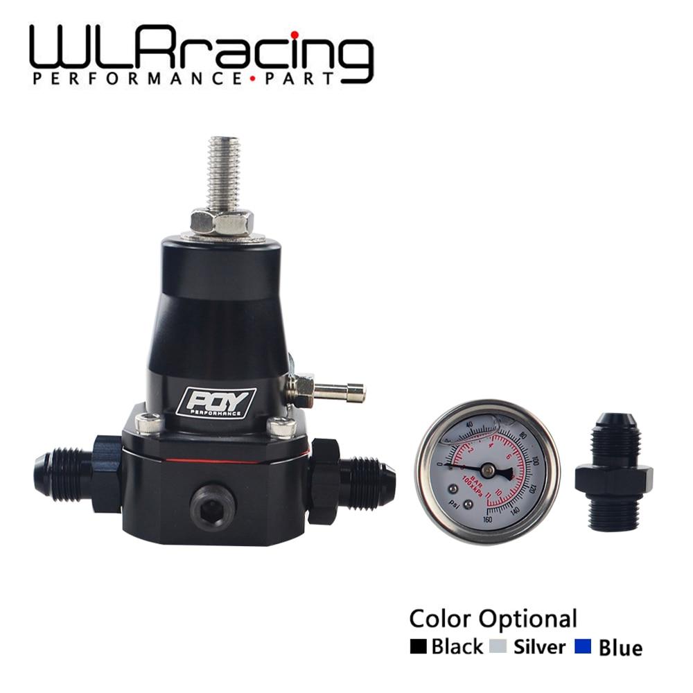 WLR RACING - UNIVERSAL FUEL PRESSURE REGULATOR + GAUGE + AN6 FITTING 30-70 PSI WLR7845 racing fuel regulator delivery adapter