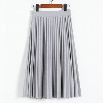 Spring Autumn Women's  Pleated  Skirt  2